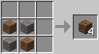 http://www.minecraft-crafting.net/app/src/Blocks/craft/craft_coarsedirt.png