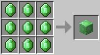 http://www.minecraft-crafting.net/app/src/Blocks/craft/craft_emeraldblock.png