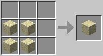 http://www.minecraft-crafting.net/app/src/Blocks/craft/craft_sandstone.png