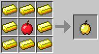 http://www.minecraft-crafting.net/app/src/Food/craft/craft_goldenapple.png