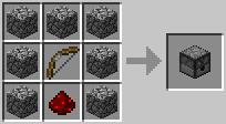 http://www.minecraft-crafting.net/app/src/Mechanism/craft/craft_dispenser.png