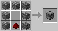 http://www.minecraft-crafting.net/app/src/Mechanism/craft/craft_dropper.png