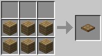 http://www.minecraft-crafting.net/app/src/Mechanism/craft/craft_trapdoor.png
