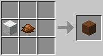 http://www.minecraft-crafting.net/app/src/Wool/craft/craft_brownwool.png